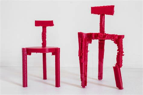 3d Printed Chair by 3d Printed Chairs Made From Noise By Estudio Guto Requena