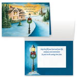 winter path non personalized card set of 20 holidays gifts sale wdrake