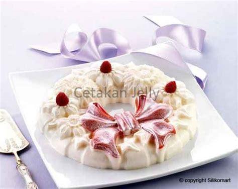 Cetakan Silikon Puding Kue Gift cetakan silikon puding kue wreath cetakan jelly cetakan jelly