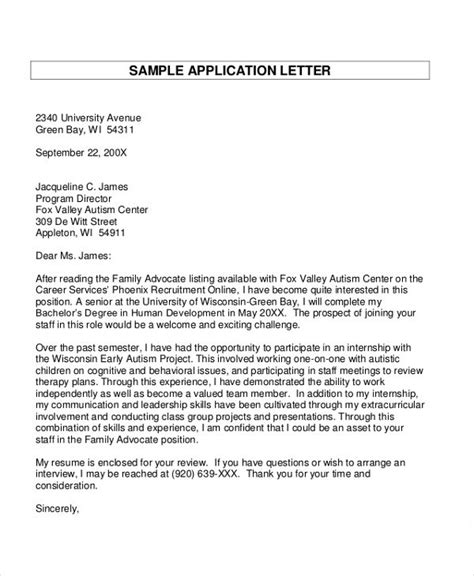 30 application letter templates format free premium templates