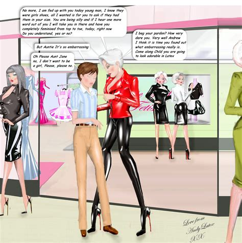 staying with aunt jane sissy kiss feminization sissy smooth slick n shiny the kinky dreams of andy latex
