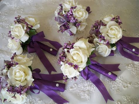 silk flowers for wedding items similar to silk flower bouquet of silk lilacs and realtouch bridal bridesmaids and