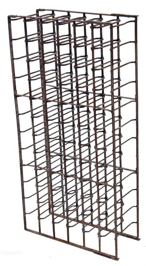 iron wine rack table heavy steel iron wine rack 19c 66 bottles stand
