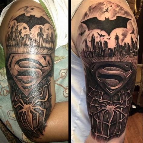super hero tattoos signs graphic