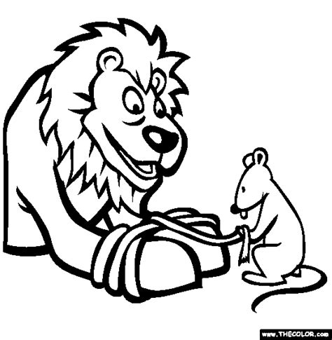 coloring pages lion and mouse aesop s fables online coloring pages drawings colored by