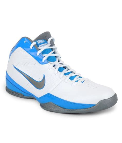 nike and white basketball shoes nike air handle basketball shoes white blue buy