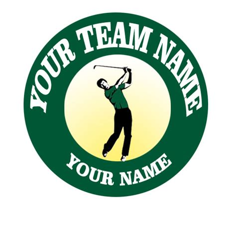 customized golf logo  cad personal love