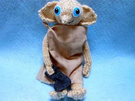 dobby house elf doll dobby the house elf with sock hand knitted doll fantasy