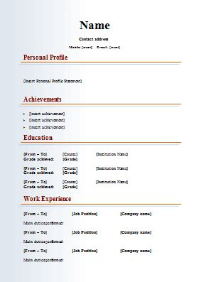 Free Cv Templates To Use by Multimedia Media Cv Template