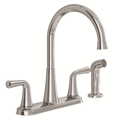 Kitchen Faucet Plumbing American Standard 9089501 002 Angeline Two Handle Kitchen Faucet With Spray Polished