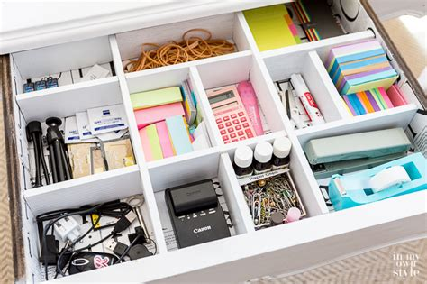 Make Your Own Desk Organizer Diy Desk Drawer Dividers In My Own Style