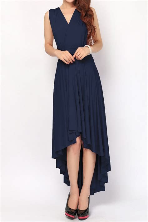 Dress Blue Navy navy blue high low bridesmaid dresses convertible dress