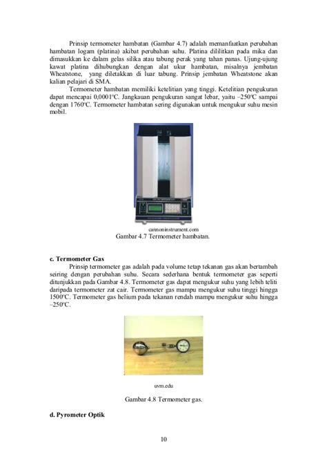 Termometer Fisika fisika dasar prodi ipa suhu dan kalor