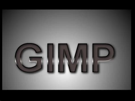 gimp tutorial lettering gimp 3d text polished text effect tutorial youtube