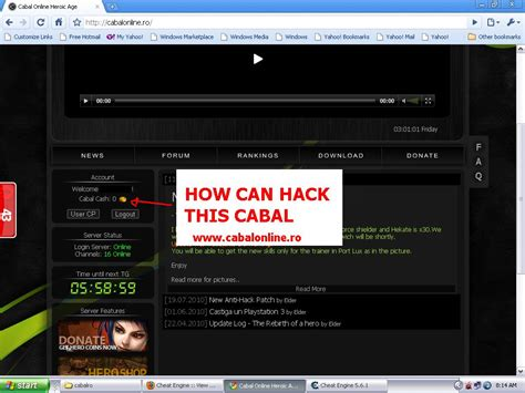 tutorial hack me cheat engine view topic cabal cash hack please