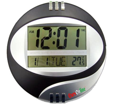 Desk Clock With Temperature by Digital Lcd Wall Or Desk Clock With Temperature Date