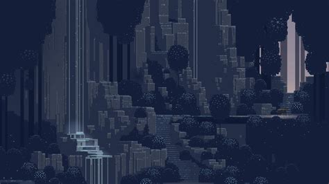 pixel background waterfall pixel 19201080 wallpapers