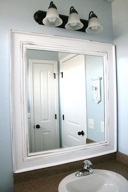 bathroom mirror frame ideas best 20 frame bathroom mirrors ideas on pinterest