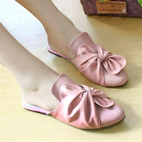 Sandal Mi22 Teplek Hitam Pink awstore86 raina sandal wanita sendal selop murah mules