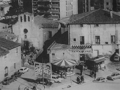 fotos antiguas hospitalet de llobregat vilapiscina nou barris y la iglesia de santa eulalia