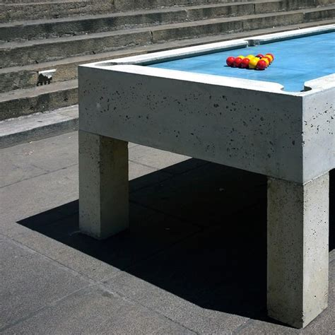pool concrete pool table by gwendal le bihan