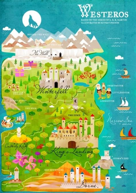 cute map pattern a children s map of westeros a dribble of ink