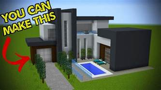 how to build a house 5 easy steps to make a minecraft modern house youtube