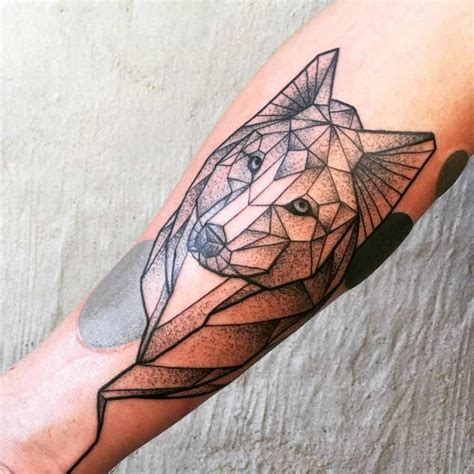 dotwork tattoo manila m 225 s de 1000 ideas sobre geometric wolf tattoo en pinterest