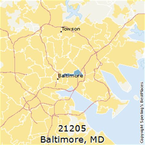 zip code map baltimore md best places to live in baltimore zip 21205 maryland