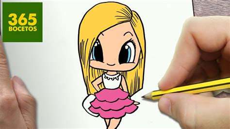 imagenes de niños kawaii como dibujar barbie kawaii paso a paso dibujos kawaii