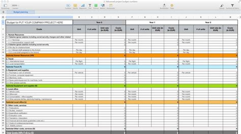 budget spreadsheet template mac spreadsheet templates for