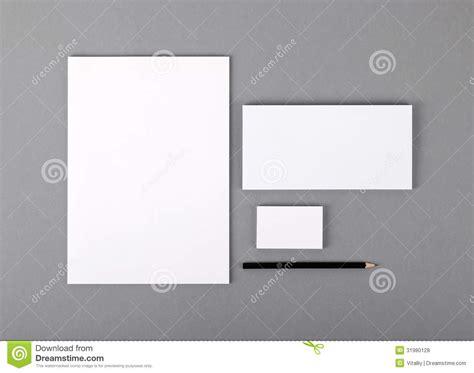 blank basic stationery letterhead flat business card