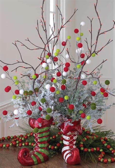 christmas decoration ideas to make at home elf boot centerpiece trendy tree blog holiday decor