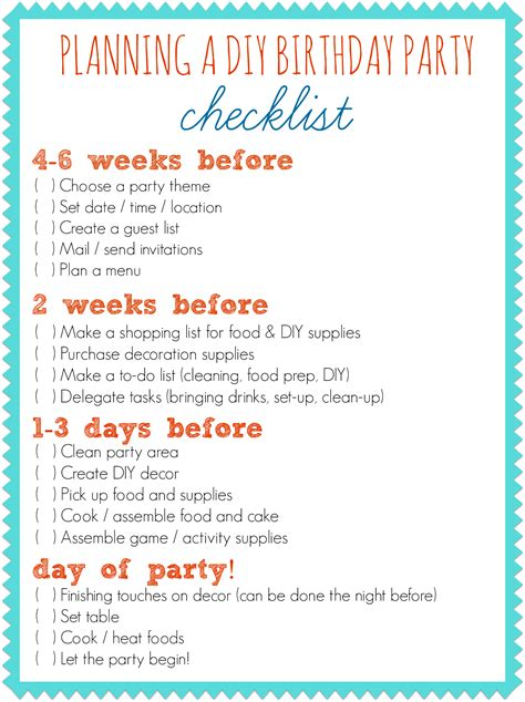 how to plan a party at home party planning checklist connect with m d pinterest