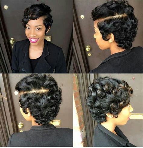 black people short up dos pin curls hairstyles 1000 ideas about black pixie haircut on pinterest pixie