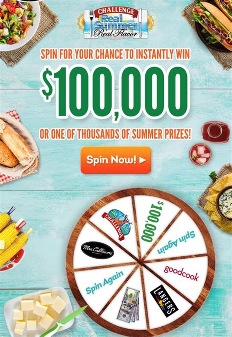 Real Prizes Real Winners Sweepstakes - challenge 100 000 real summer real flavor instant win sweepstakes