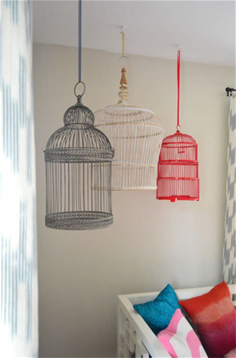 Hanging Bird Cages From Ceiling by Hanging Decorative Birdcages In A Room House