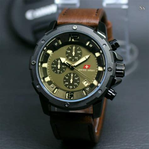 Produk Baru Jam Tangan Pria Premium Swiss Army jual jam tangan pria swiss army kulit premium crono di