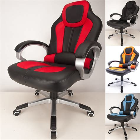 Padded Cing Chair by Raygar Deluxe Padded Sports Racing Gaming Office Chair