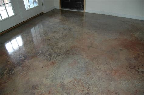 cement floor lightly sand cement wash thoroughly dilute