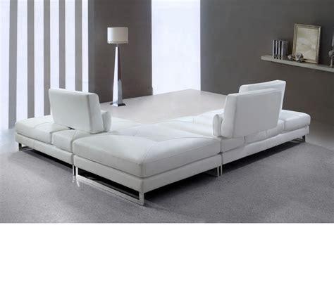 white leather sectional sofa dreamfurniture modern white leather
