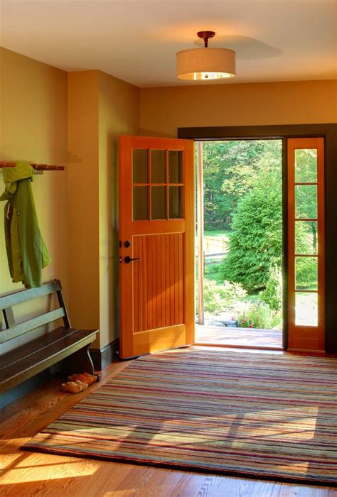 pretty front door  side panels entry farmhouse striped