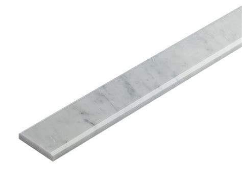 4 in x 36 in white carrara marble polished threshold liner trim