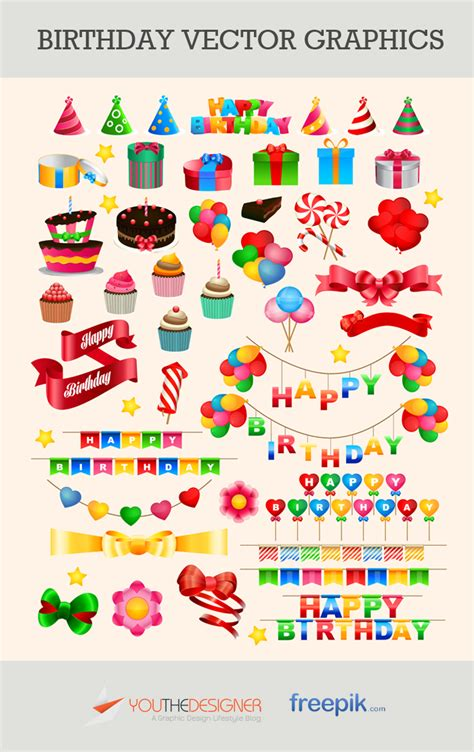 free vector graphic art free photos free icons free free vector pack birthday vector graphics