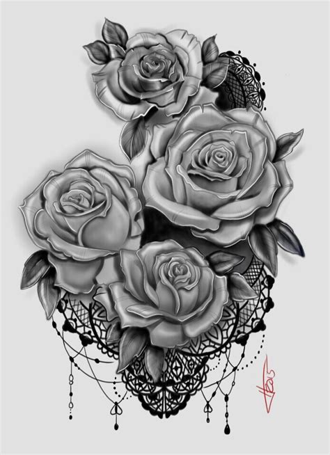 rose and lace tattoos my and lace design ideas