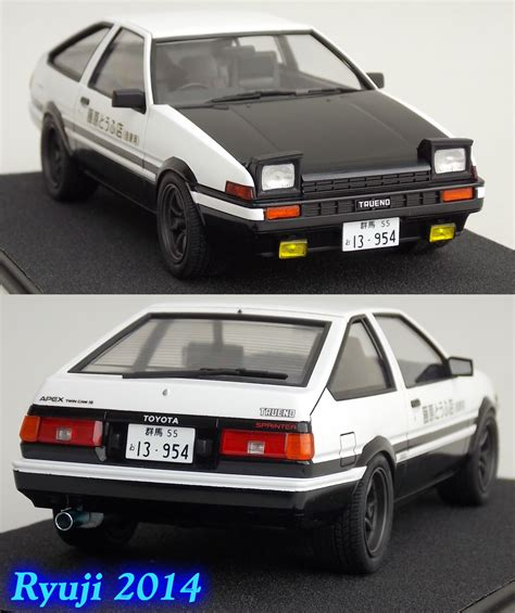Aoshima Toyota Ae86 Sprinter Trueno Project D With Engine 1 24 aoshima ae86 04 by celsoryuji on deviantart