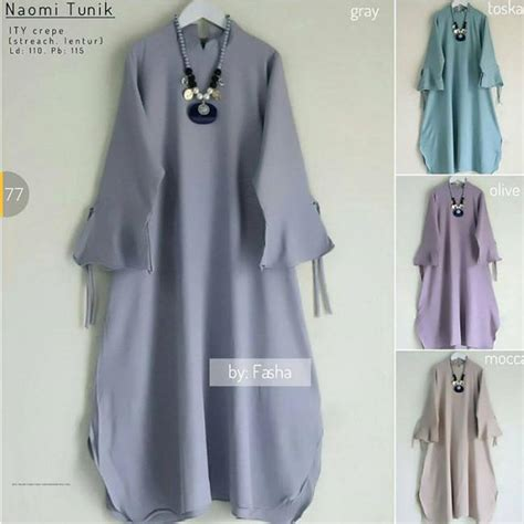 Kafie Grey Baju Rajut Murah baju murah tunik grey grosir baju muslim pakaian wanita dan busana murah