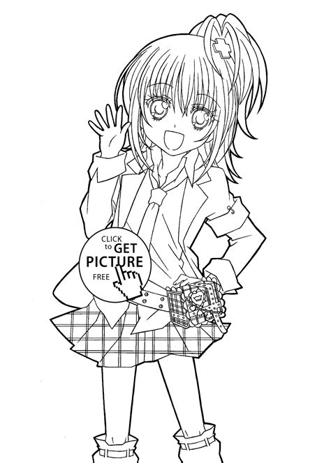 Hotaru From Shugo Chara Anime Coloring Pages For Kids Anime School Coloring Pages