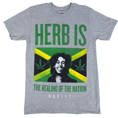 ideas for xmas tshirts for jamaica bob marley herb is jamaica grey t shirt s rastaempire