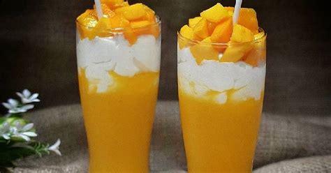 membuat jus mangga kekinian mango thai mudah  murah